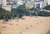 Front view of Chowpatty Beach