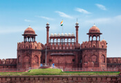 Front view of Red Fort