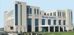 Front view of Jaypee Hospital