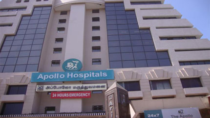 Apollo Hospital in Chennai